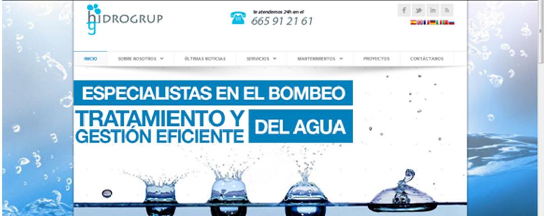 Estrenamos web:  Hidrogrup.es