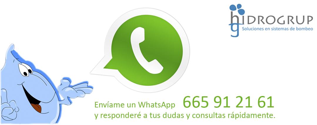 Hidrogrup responde a tus consultas a través del WhatsApp